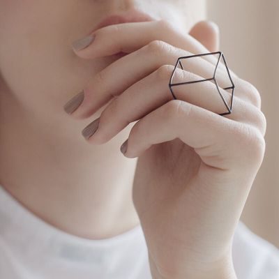 TRANSLATIONS ring Minimalist, handcrafted - Monom